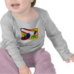 Snowboard colorida camisetas