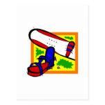 Snowboard colorida tarjeta postal