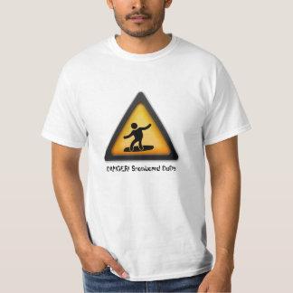 """Snowboard """"Danger Snowboard dude""""  shirt"""