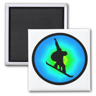 Snowboard Day Maker 2 Inch Square Magnet