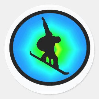 Snowboard Day Maker Classic Round Sticker