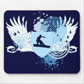 snowboard de alta fidelidad. remontado en azul tapetes de raton