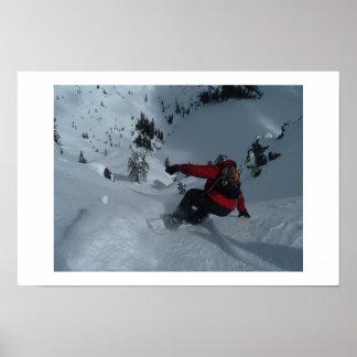 Snowboard de Backcountry Póster