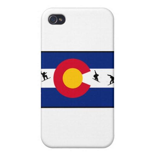 snowboard de Colorado iPhone 4 Fundas