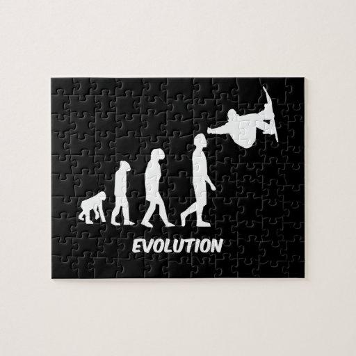snowboard de la evolución puzzle con fotos