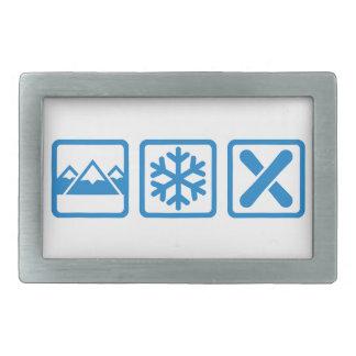 Snowboard de la nieve de las montañas hebilla cinturon rectangular