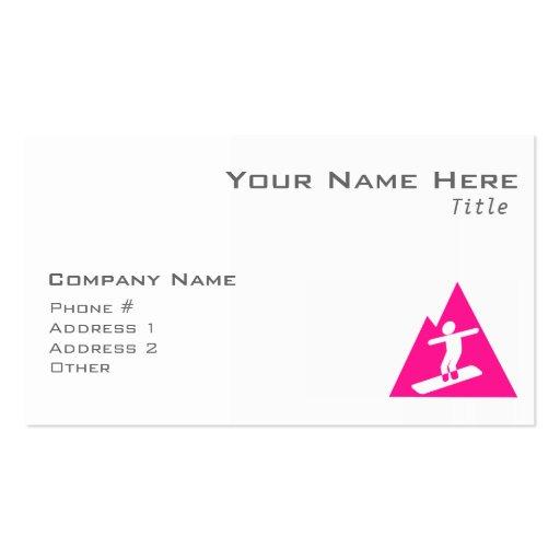 Snowboard de las rosas fuertes tarjetas de visita