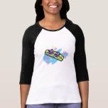 Snowboard de los chicas camiseta