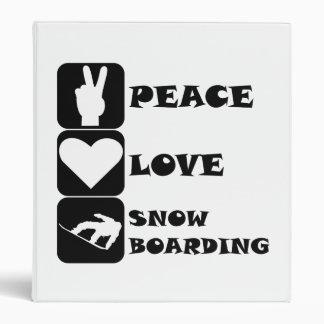 Snowboard del amor de la paz