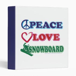 """Snowboard del amor de la paz carpeta 1"""""""