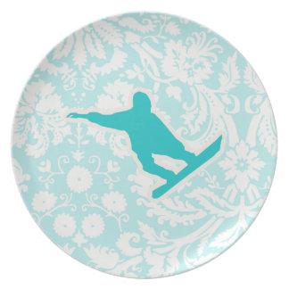 Snowboard del trullo platos