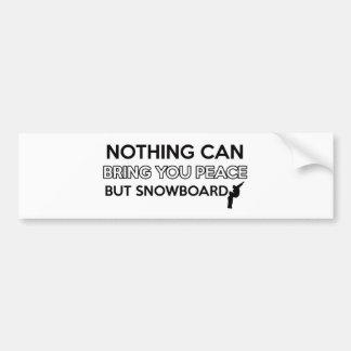 snowboard design bumper sticker