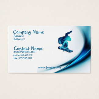 Snowboard Design Business Card