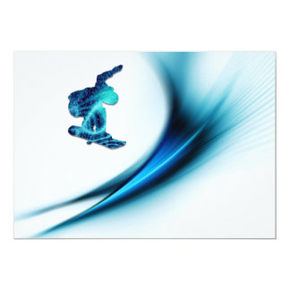 Snowboard Design Invitation