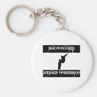 snowboard design keychains
