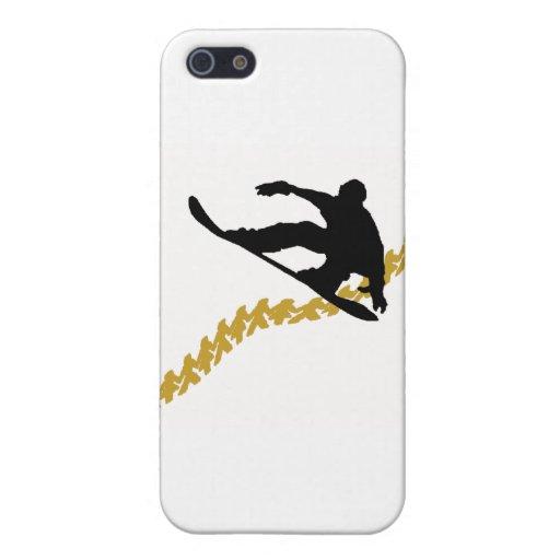 snowboard en ciudad iPhone 5 carcasa