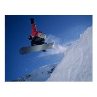 Snowboard en el centro turístico del Snowbird, Tarjetas Postales