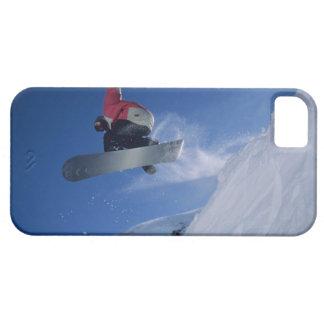 Snowboard en el centro turístico del Snowbird, Uta iPhone 5 Cárcasa