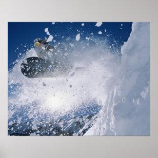 Snowboard en el centro turístico del Snowbird, Was Póster
