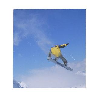 Snowboard en la quebrada del grisáceo, pequeño Cot Blocs