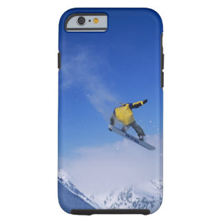 Snowboard en la quebrada del grisáceo, pequeño funda de iPhone 6 tough