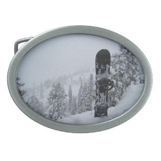 Snowboard en nieve hebilla de cinturon oval