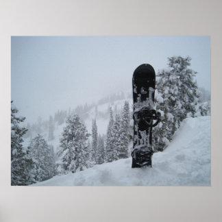Snowboard en nieve posters