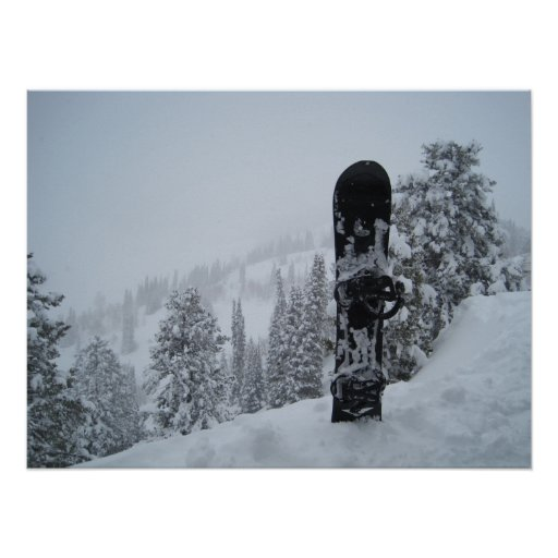 Snowboard en nieve póster