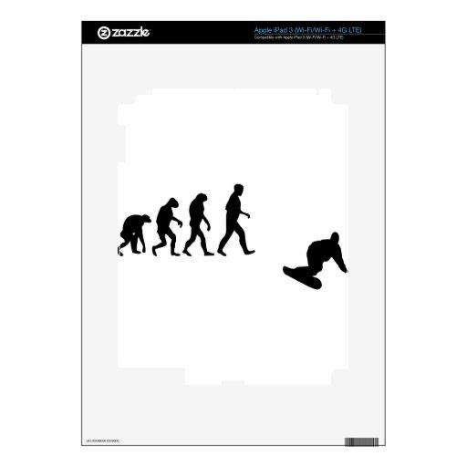 snowboard evolution iPad 3 decals