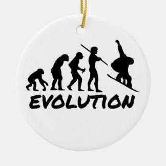 Snowboard Evolution Christmas Ornaments