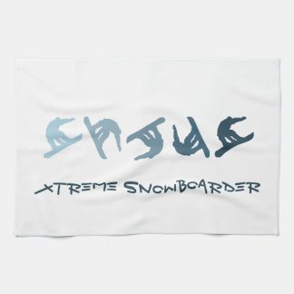 Snowboard extrema toalla de cocina