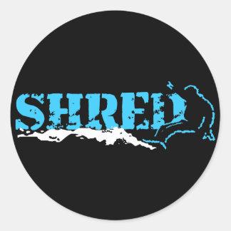 snowboard fragmento etiquetas redondas