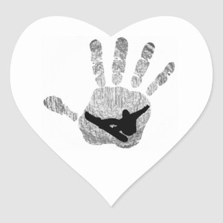 SNOWBOARD FRESH POW HEART STICKER