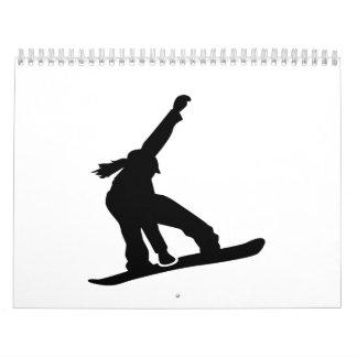 Snowboard girl wall calendars