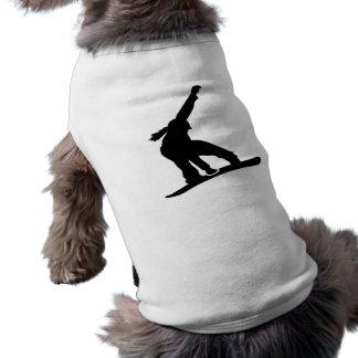 Snowboard girl dog clothes