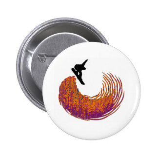 snowboard half pipe pinback button