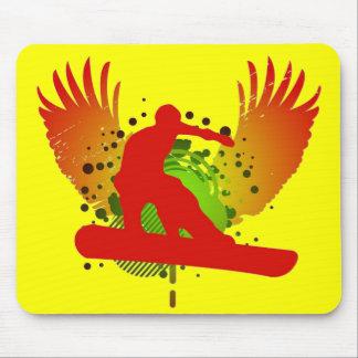 snowboard. hi-fi. mouse pad