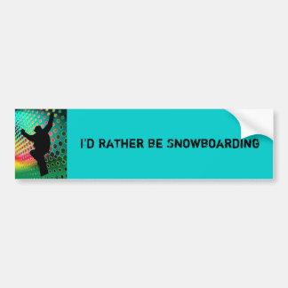 Snowboard in Cosmic Snowstorm Bumper Sticker