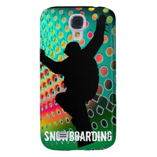 Snowboard in Cosmic Snowstorm Samsung Galaxy S4 Cover
