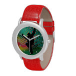 Snowboard in Cosmic Snowstorm Wrist Watches
