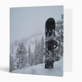 Snowboard In Snow Binder