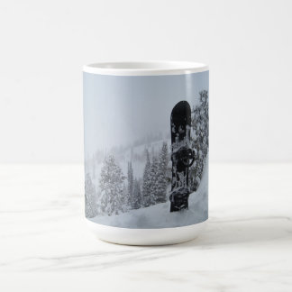 Snowboard In Snow Classic White Coffee Mug