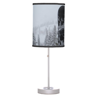Snowboard In Snow Table Lamp