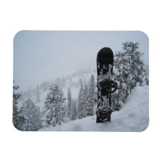 Snowboard In Snow Magnet