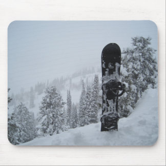 Snowboard In Snow Mouse Pad