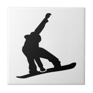 Snowboard jump tile