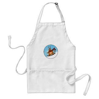 snowboard kitty adult apron
