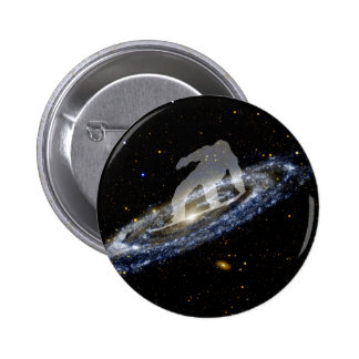 Snowboard la galaxia del Andromeda Pin Redondo 5 Cm