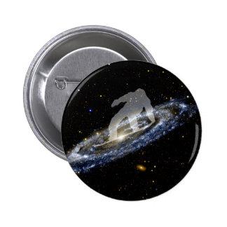 Snowboard la galaxia del Andromeda Pin Redondo De 2 Pulgadas