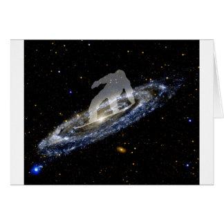 Snowboard la galaxia del Andromeda Tarjetas